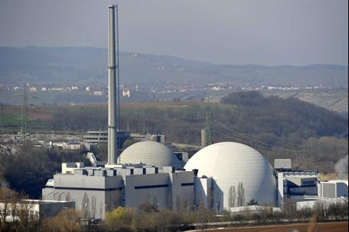 La centrale nucléaire de Neckarwestheim (Allemagne), fermée en 2011 suite à la catastrophe de Fukushima.