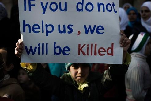 Selon les observateurs de la Ligue arabe, de nombreux enfants ont été tués au cours des affrontements en Syrie.