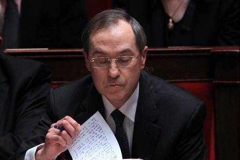 Claude Guéant mercredi à l'Assemblée nationale.