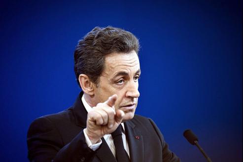 Nicolas Sarkozy le 9 février à Fessenheim.