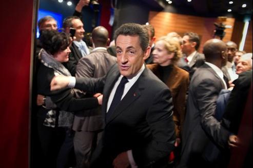 Nicolas Sarkozy voulait faire tourner son slogan autour des mots-clés de «force» et «protection».