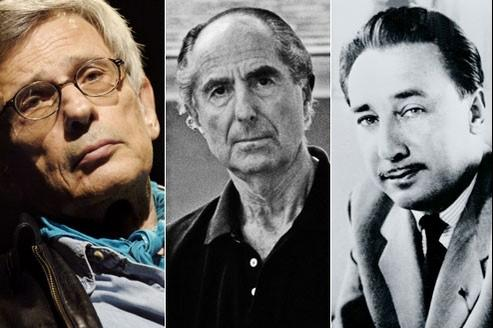 Jerome Charyn, Philip Roth et Romain Gary. (AFP)