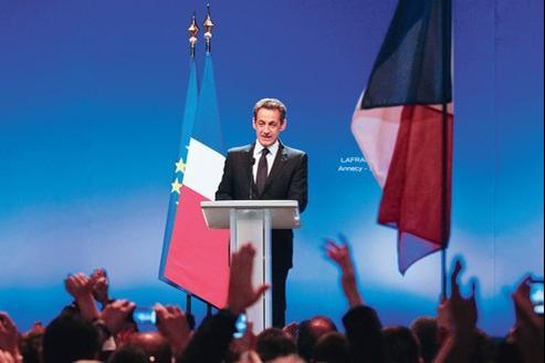 Nicolas Sarkozy à Annecy, ce jeudi.