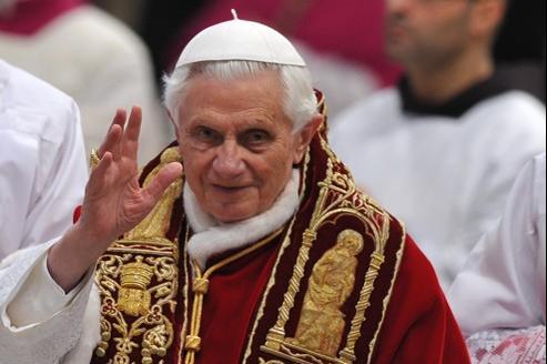 Benoît XVI samedi dans la basilique Saint-Pierre au Vatican.