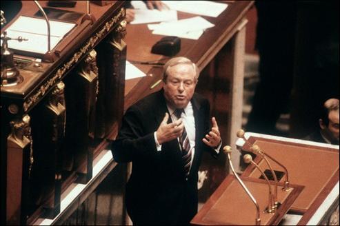 Jean-Marie Le Pen à l'Assemblée nationale, en avril 1986.