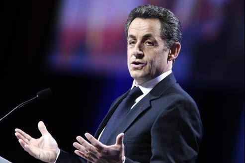 Nicolas Sarkozy lors de son meeting à Marseille, dimanche.
