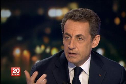Nicolas Sarkozy était l'invité du journal télévisé de David Pujadas mercredi soir, sur France 2.