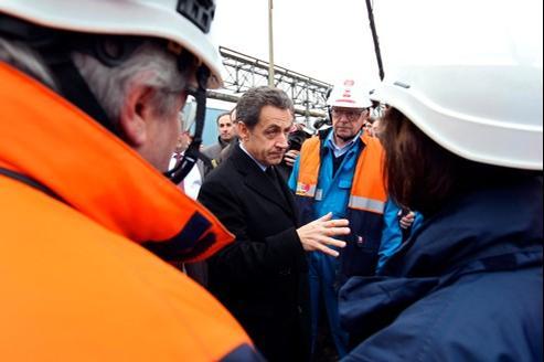 Le chef de l'Etat en visite ce vendredi sur le site Petroplus de Petit-Courrone près de Rouen.