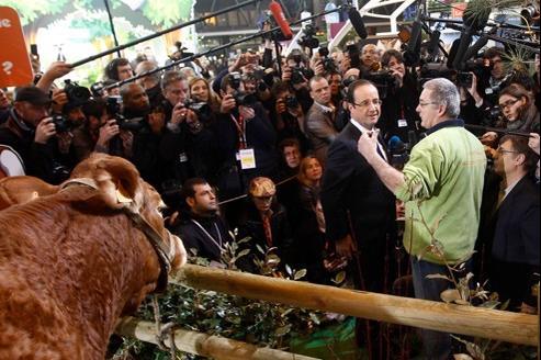 François Hollande a passé près de neuf heures au salon de l'agriculture.