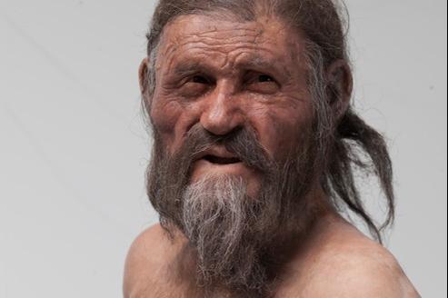 La dernière reconstitution de l'homme des glaces, au musée d'archéologie du Tyrol du Sud en Italie. Crédits photo: musée d'archéologie du Tyrol du Sud