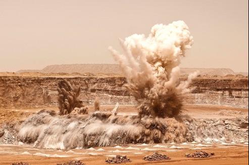 Dans la mine d'uranium à ciel ouvert d'Arlit, au Niger.
