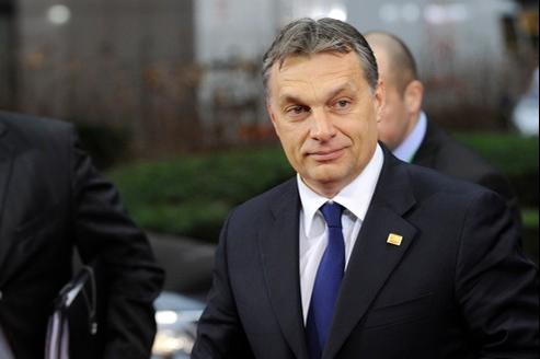 Viktor Orban à son arrivée, le 1er mars, au sommet de Bruxelles.