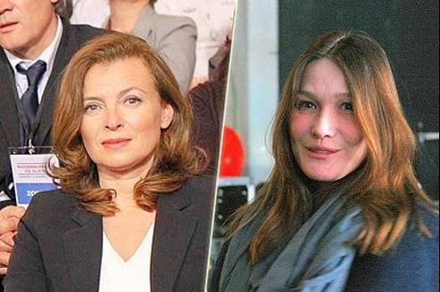 Valérie Trierweiler et Carla Bruni.