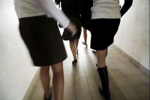 En mars 2006, dans un lycée de Bretagne, lors d'une précédente «Journée de la jupe».