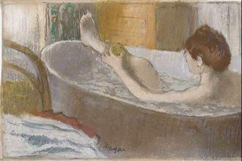 Edgar Degas, Femme dans son bain. (RMN/Musée d'Orsay)