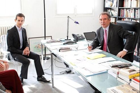 Le président de Twitter, Jack Dorsey (à gauche), a rencontré ce mercredi François Bayrou