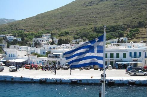 Le tourisme (notre photo: Katapola sur l'île d'Amorgos) représente le deuxième secteur économique du pays, soit 17% du PIB.