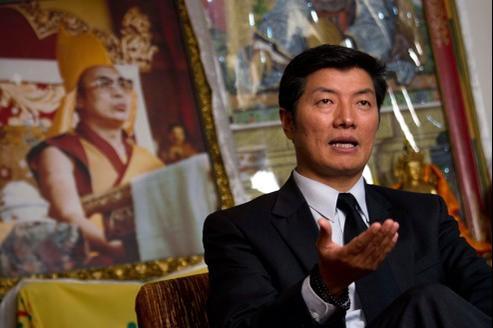 Lobsang Sangay, le nouveau premier chef du gouvernement tibétain, le 14 février dernier à Dharamsala.
