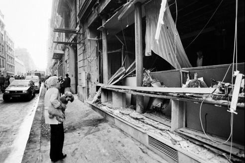 L'attentat de la rue Copernic, à Paris XVIe, en octobre 1980.