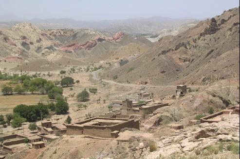 Vue d'un village du Waziristan en 2008.