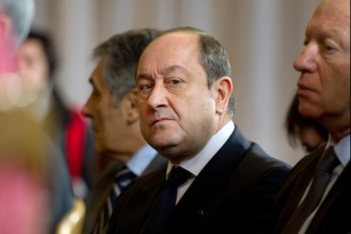 Bernard Squarcini à la conférence de presse sur les chiffres de la criminalité en 2011, le 17 janvier 2012.