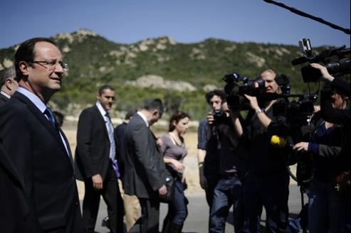 François Hollande, le 24 mars à Ajaccio