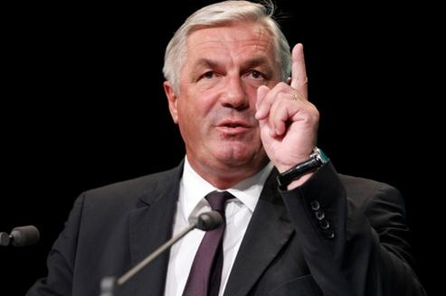 François Sauvadet, lors du conseil national du Nouveau Centre, le 8mai 2011.