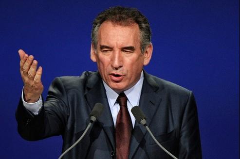 François Bayrou, dimanche, lors de son discours au Zénith de Paris.