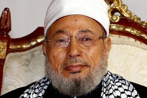 Youssef al-Qaradawi, 86 ans, célèbre prédicateur sunnite dont les émissions sur la chaîne de télévision al-Jazeera sont très suivies dans le monde musulman.