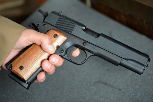Un Colt 45, du type de ceux utilisés par Mohamed Merah (illustration).