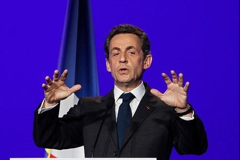 Le président-candidat, Nicolas Sarkozy