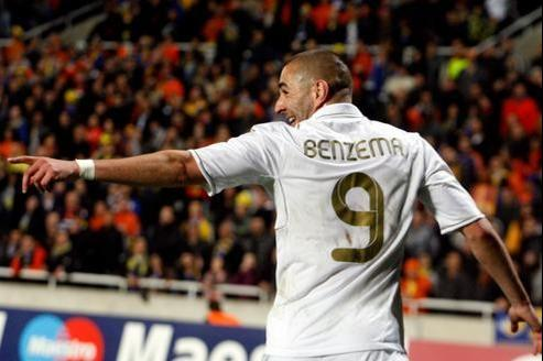 Benzema à Nicosie, mardi.
