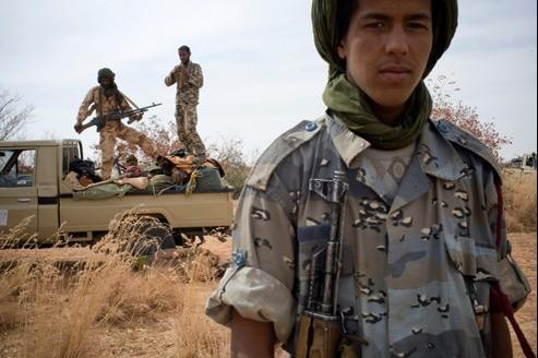 Rebelles touaregs du MNLA (Mouvement national de libération de l'Azawad), au nord du Mali, en février dernier.