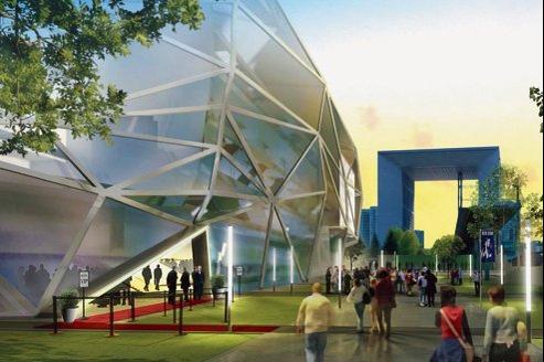Visuel du projet de stade Arena 92, tel qu'il est actuellement présenté (image non contractuelle).
