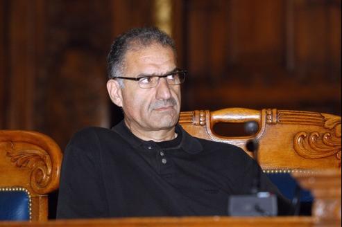 Albert Lévy en novembre 2002 dans les locaux du palais de justice à Paris.