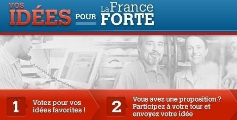 Capture d'écran de l'application «Vos idées pour la France forte».