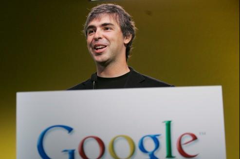 Larry Page, actuel PDG de Google, le 12 juin 2007.