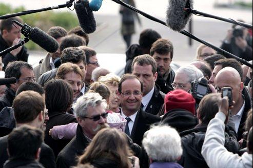 François Hollande, samedi, aux Ulis.