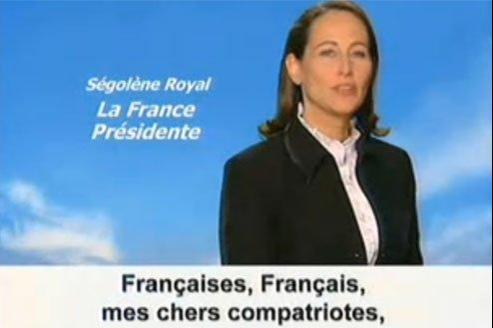 Capture d'écran du clip de campagne de Ségolène Royal en 2007.