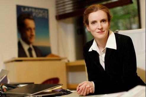 Nathalie Kosciusko-Morizet, porte-parole de Nicolas Sarkozy au QG de campagne de Nicolas Sarkozy.