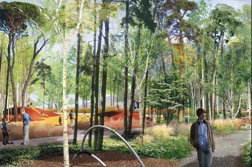 Il est prévu de planter dans le parc «des essences forestières symbolisant l'automne et l'hiver».