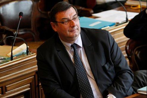 Jean-François Lamour, député UMP du XVe arrondissement, au Conseil de Paris, le 6 février.