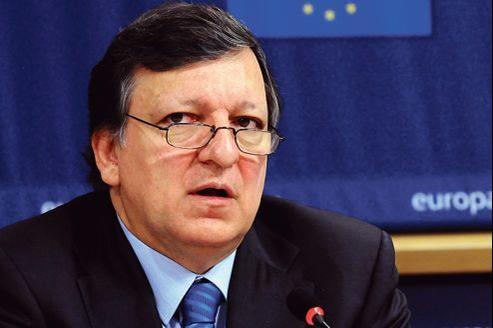 José Manuel Barroso lors d'une conférence de presse à Bruxelles, le 22 mars dernier.