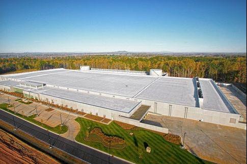 Le centre de données d'Apple en Caroline du Nord.