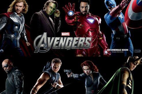 De haut en bas et de gauche à droite: Thor, Hulk, Iron Man, Captain America, Nick Fury, Œil-de-Faucon, La Veuve noire, Loki. (© Disney)