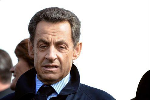 Nicolas Sarkozy, lundi, à Vouvray.