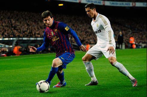 Lionel Messi face à Cristiano Ronaldo, le 25 janvier dernier, lors du quart de finale retour, au Camp Nou, entre le FC Barcelone et Real Madrid.