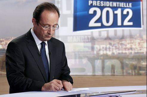 François Hollande au journal télévisé de TF1, mardi soir.