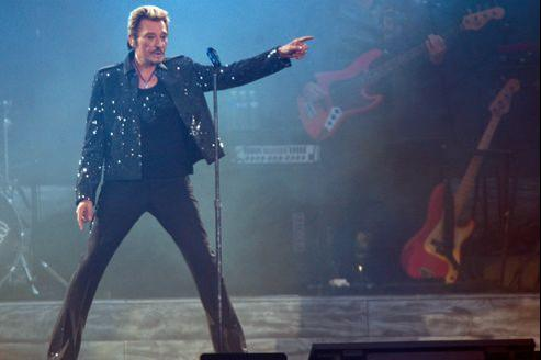 Johnny Hallyday au Stade de France en 2009.