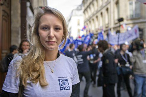 Marion Maréchal-Le Pen lors de la fête de Jeanne d'Arc l'an passé.